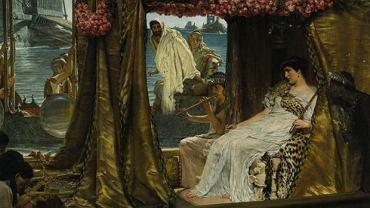 Autor obrazu: Lawrence Alma-Tadema. Tytuł: Antoniusz i Kleopatra. Olej, 1885 r.