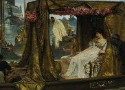 Znani mężczyźni, którzy oszaleli z miłości, dziewczyny, top 10, Marek Antoniusz (83 p.n.e.- 30 p.n.e.), Autor obrazu: Lawrence Alma-Tadema. Tytuł: Antoniusz i Kleopatra. Olej, 1885 r. Źródło: Wikimedia Commons: zdjęcie jest własnością publiczną, ponieważ prawa autorskie do niego wygasły., miłość