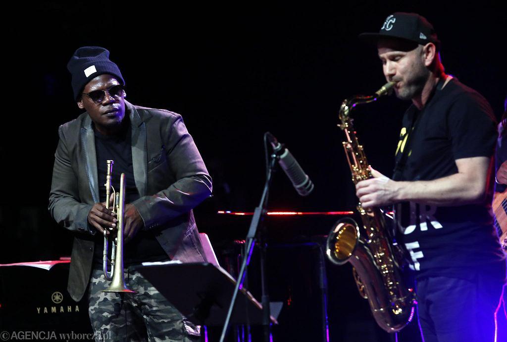 Keyon Harrold i Sylwester Ostrowski  podczas koncertu w ramach Europejskich Targów Muzycznych Co Jest Grane 24  / FOT. KUBA ATYS