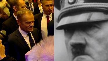 Wiadomości TVP o wykładzie Donalda Tuska. W materiale Adolf Hitler.