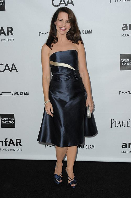 Kristin Davis arrives at the amfAR Inspiration Gala at Milk Studios on Thursday, Oct. 11, 2012, in Los Angeles. (Photo by Jordan Strauss/Invision/AP)