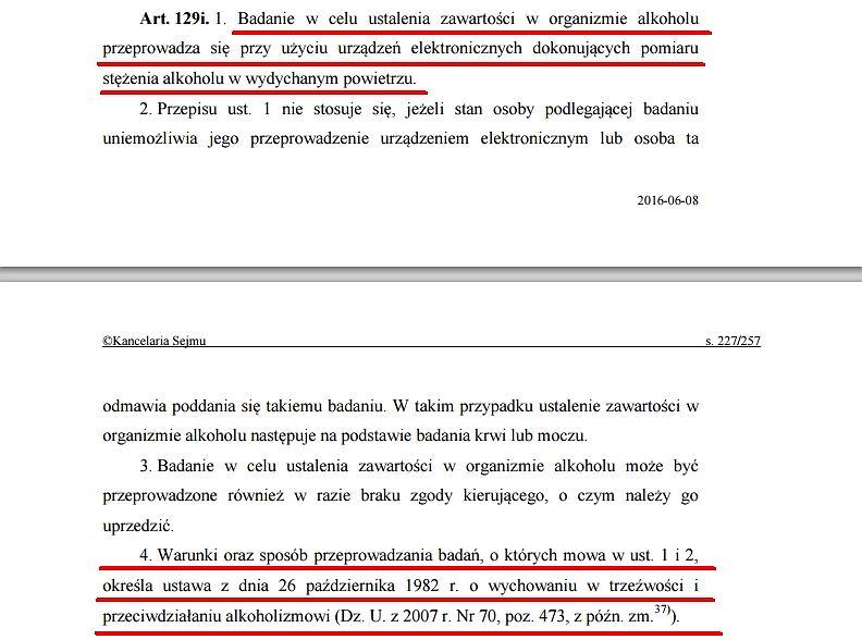 Ustawa z dnia 20 czerwca 1997 r. - Prawo o ruchu drogowym.