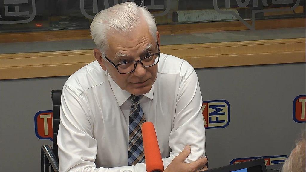 Andrzej Stanisławek w studiu TOK FM.