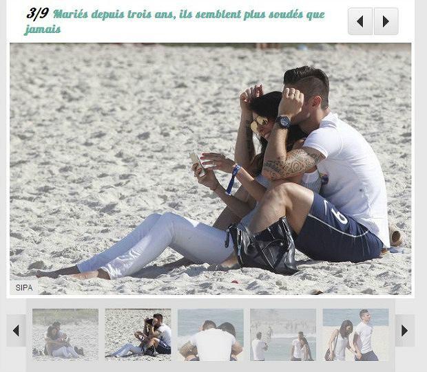 Olivier Giroud z żoną