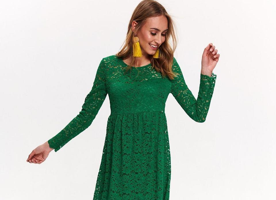 Zielona, koronkowa sukienka Top Secret