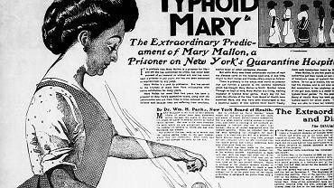 Mary Mallon w gazecie z 1909 roku