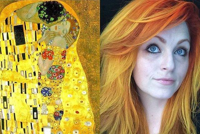 Kolorowe fryzury Ursuli Goff inspirowane słynnymi obrazami