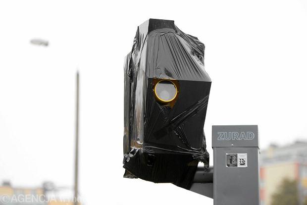 Zakryty fotoradar w Olsztynie