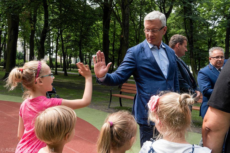 Jacek Jaśkowiak na otwarciu Parku Górczyńskiego