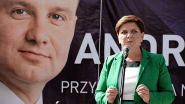 Beata Szydło podczas kampanii wyborczej Andrzeja Dudy w 2015 roku.