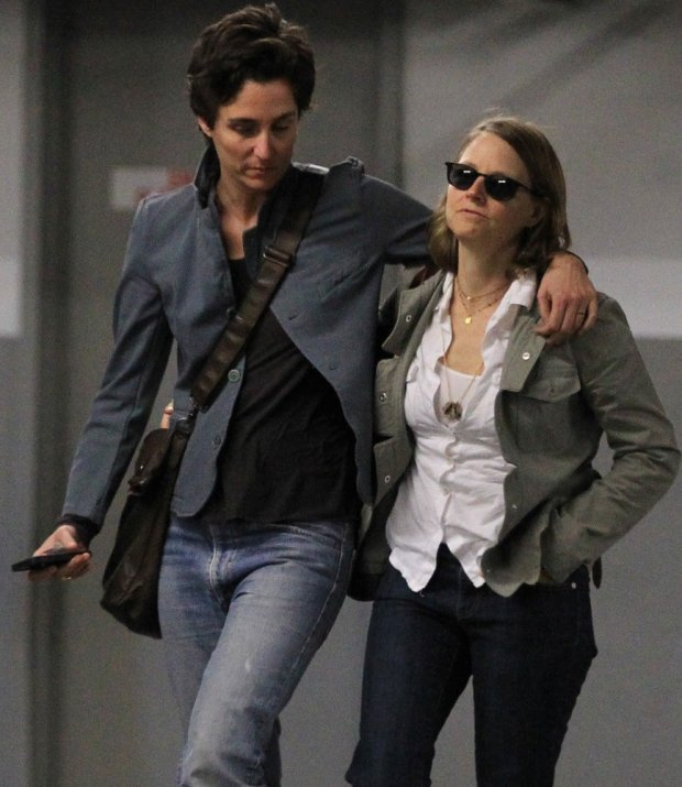 EXCLUSIVE. COLEMAN-RAYNER. 05 March 2014  US actress Jodie Foster is seen walking with her arm around girlfriend Alexandra Hedison for the first time, as the couple leave a Beverly Hills department store. Alexandra is the ex-girlfriend of Oscars host Ellen DeGeneres and she also appears to be wearing a thin gold band on her ring finger, similar to the one Jodie wears.  CREDIT LIINE MUST READ: AnthonyTaafe/Coleman-Rayner Tel US (001) 310-4744343- office  Tel US (001) 323 5457584 - cell www.coleman-rayner.com