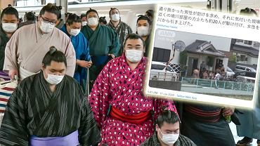 Zawodnicy sumo uratowali kobietę