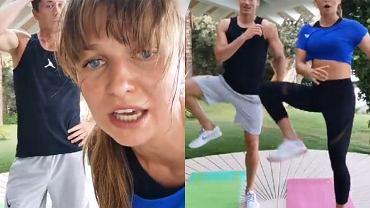 Anna i Robert Lewandowscy na wspólnym treningu