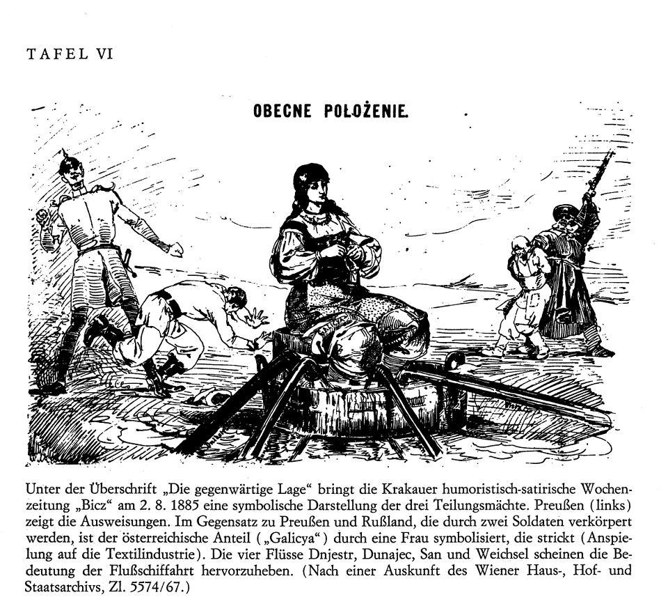 Rysunek satyryczny, który ukazał się w krakowskim tygodniku