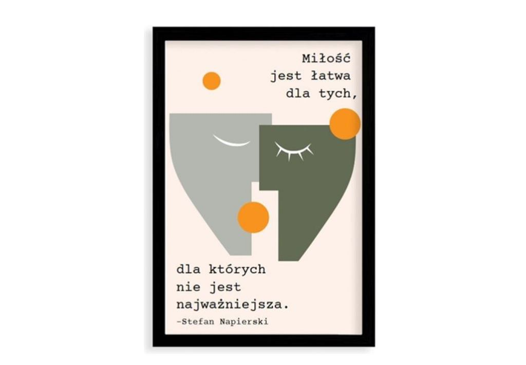 Plakat 'Miłość' Stefana Napierskiego.