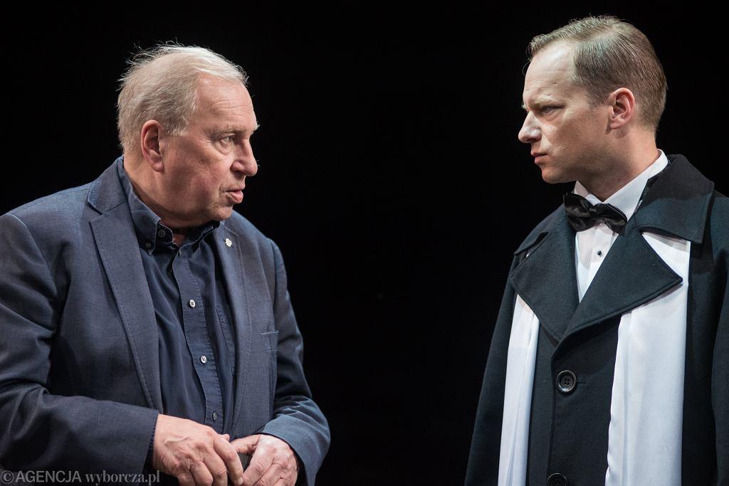 Jerzy Stuhr i jego syn Maciej - próba spektaklu 'Bal Manekinów' w Och-Teatrze w Warszawie (2018 rok)