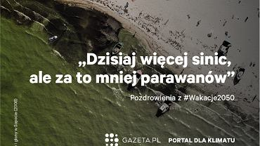 Silny wykwit sinic i glonów w Bałtyku, Sopot. Kampania Gazeta.pl #wakacje2050