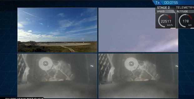 Udany start Falcon Heavy - wielki sukces Space X