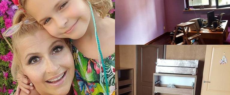 Katarzynka Skrzynecka remontuje pokój córki. Tapetę wybrała oryginalną, ale to meble są najciekawsze.