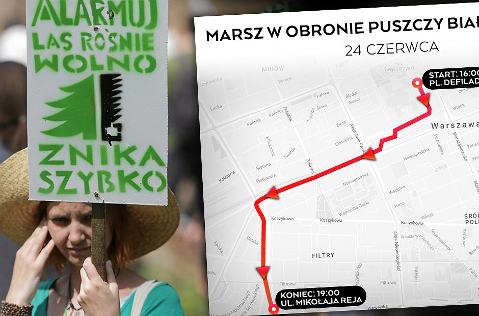 Marsz rozpocznie się na Placu Defilad
