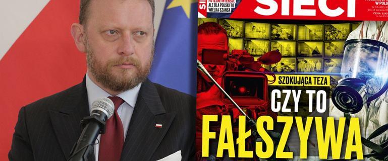 """Szumowski o okładce """"Sieci"""". """"Ktoś pisze książkę z gatunku fantastyki """""""