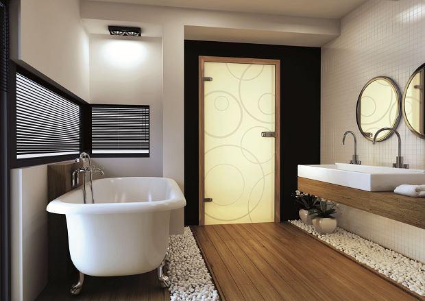 Szklane drzwi do łazienki