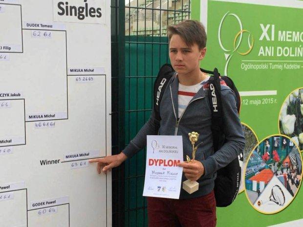 Płocki tenisista wygrał Ogólnopolski Turniej Super Serii kadetów
