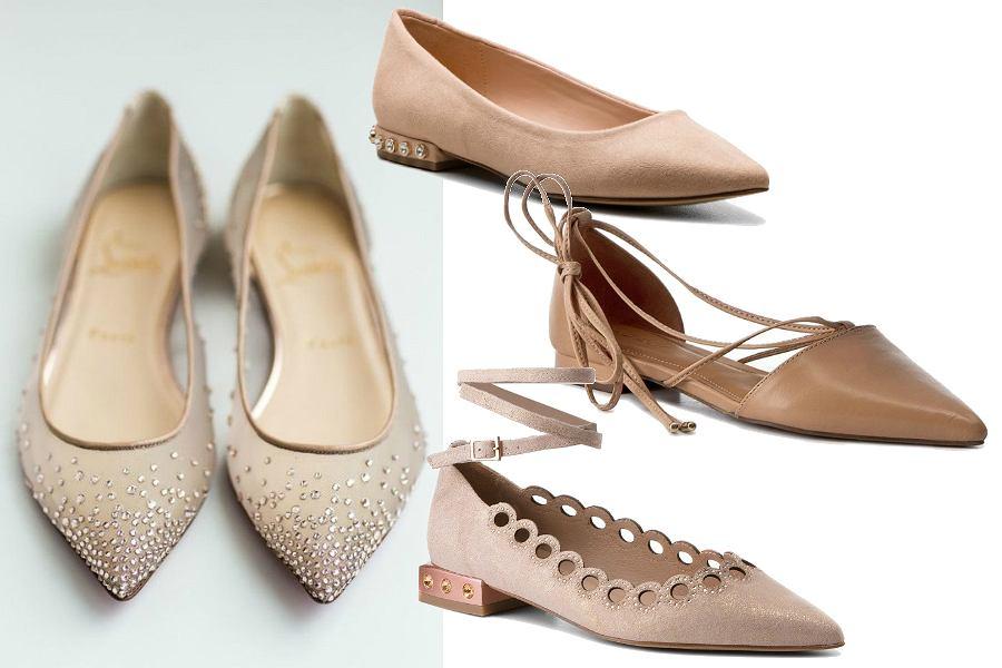 buty ślubne na płaskim obcasie
