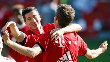 Robert Lewandowski świętuje mistrzostwo Niemiec