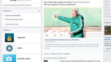 Screen z Facebooka Orange Sport