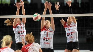 Mecz Budowlanych Toruń i ŁKS Łódź w finale I ligi