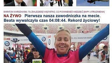 Beata szybciej dowiedziała się o swoim wyniku od znajomych śledzących naszą relację NA ŻYWO na gazeta.pl, niż od organizatorów.