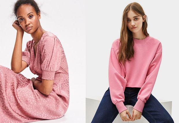 Modne kolory 2019: sweet lilac. Sukienka Reserved 199,99 zł; Bluza Bershka 49,90 zł