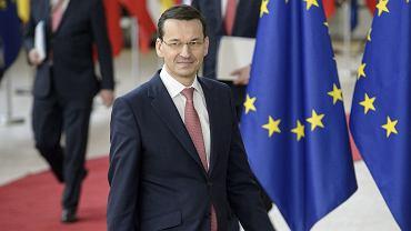 Mateusz Morawiecki na spotkaniu unijnym w Brukseli, 22.03.2018.