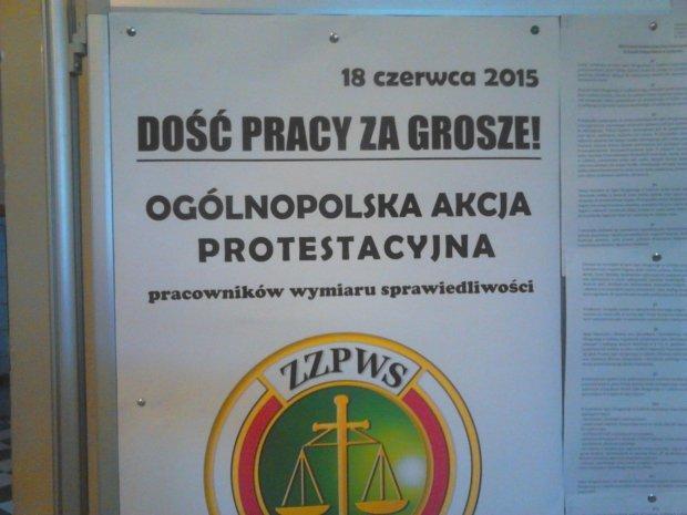 Protest w sądzie w Lublinie