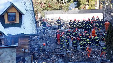 Zniszczony budynek po wybuchy gazu
