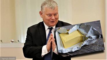 Poseł Marek Suski zapytany o cenę masła, nie zdołał odpowiedzieć