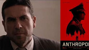 """Marcin Dorociński w """"Anthropoid"""", z prawej plakat filmu"""