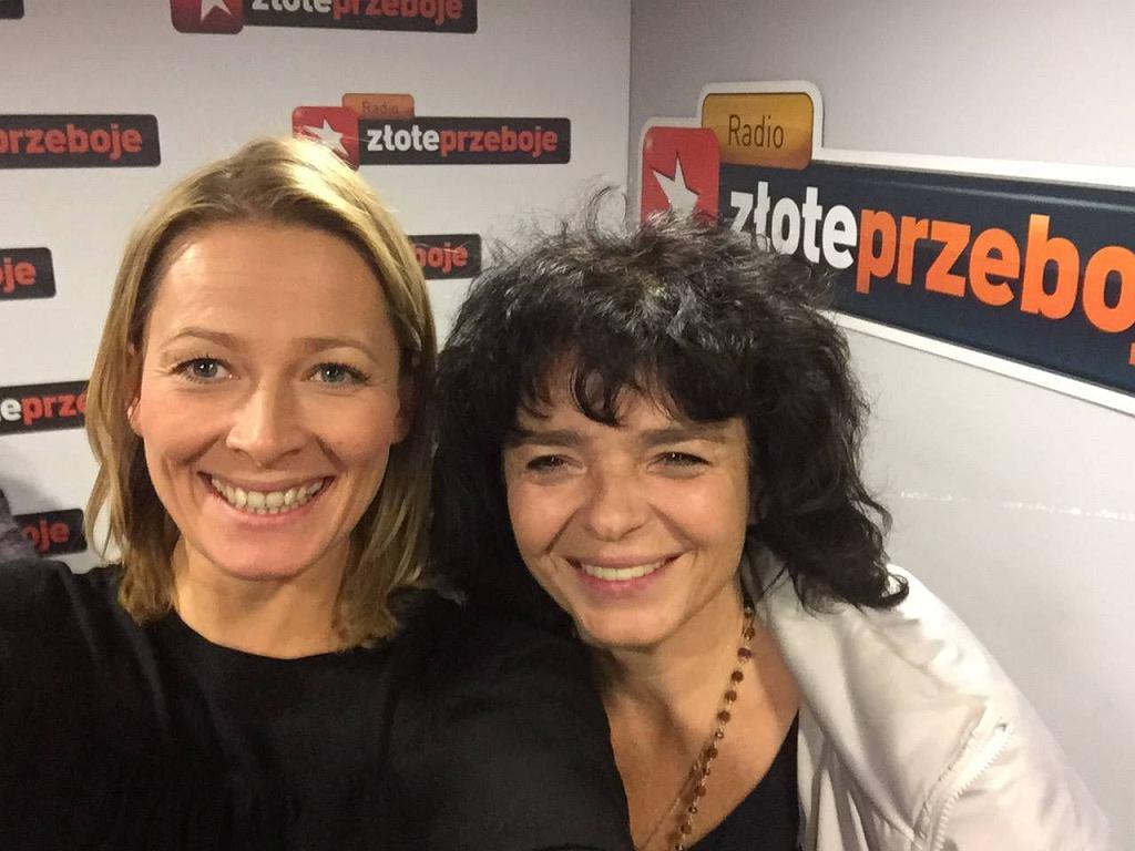 Odeta Moro i Katarzyna Grochola podczas programu 'Morowy Weekend'