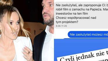 Rozmowa Rabczewskiej i Stępnia