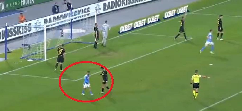 Reakcja Lorenzo Insigne po golu Arkadiusza Milika