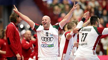 Malmo, Szwecja. 15 stycznia 2020. Mistrzostwa Europy w piłce ręcznej. Mecz grupy E Islandia - Węgry (18:24)