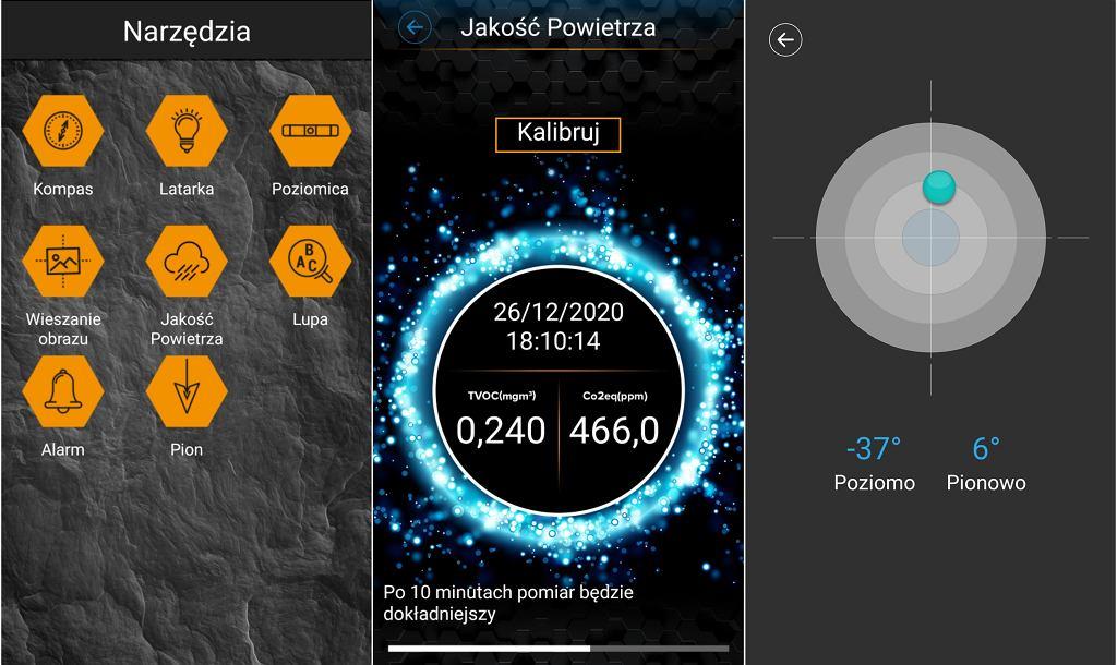Zrzut ekranu ze smartfona HAMMER Explorer PRO