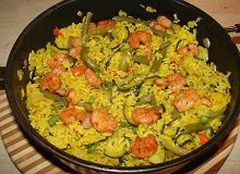 Hiszpańska paella z krewetkami - ugotuj