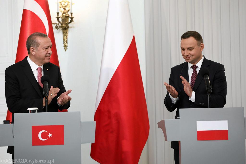 Wspólna konferencja prasowa Recepa Erdogana i Andrzeja Dudy