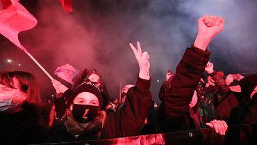 7Demonstracja Oglnopolskiego Strajku Kobiet w Warszawie