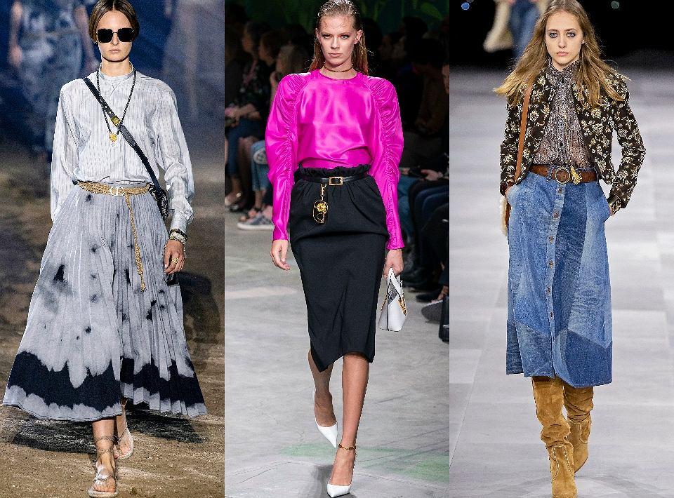Modne spódnice 2020: Dior, Versace, Celine