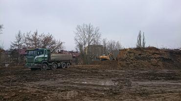 Rozbiórka hałdy obok Kauflanda w Sosnowcu