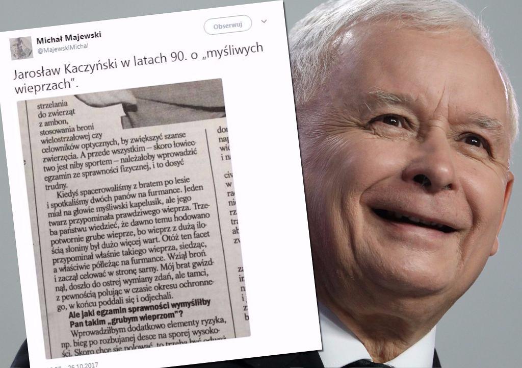 Jaroslaw Kaczynski o mysliwych