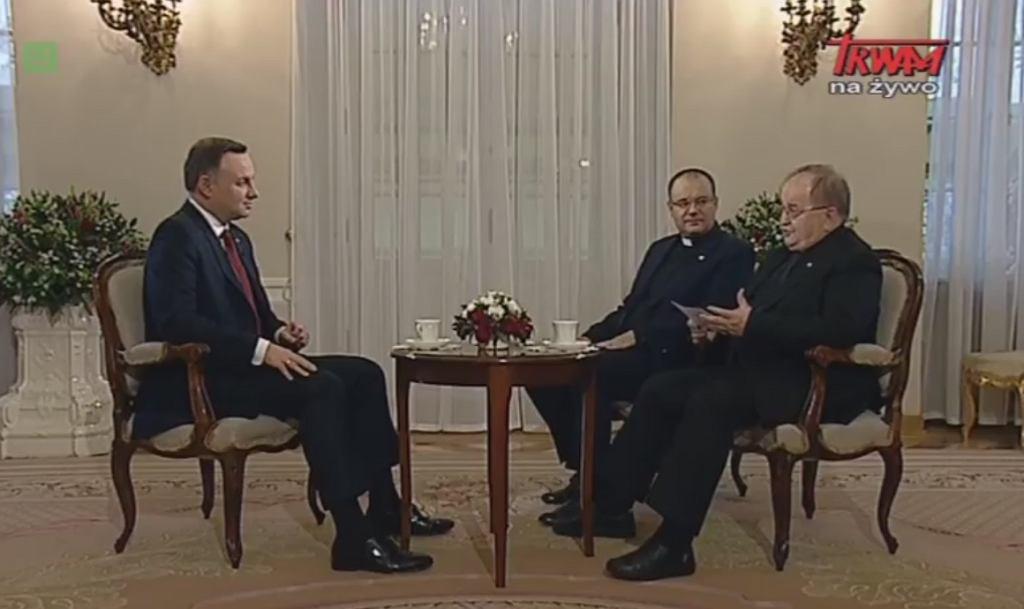 Wywiad z prezydentem Andrzejem Dudą w TV Trwam